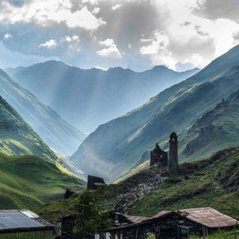 Gruzijos Tušetijos peizažai, foto A. Valevičius.