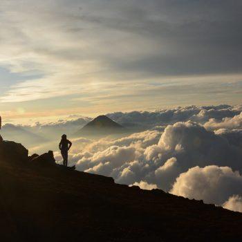 Vaizdai nuo Akatenango ugnikalni.