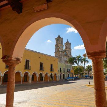 Kolonialistinis Valjadolido miestelis. Meksika.